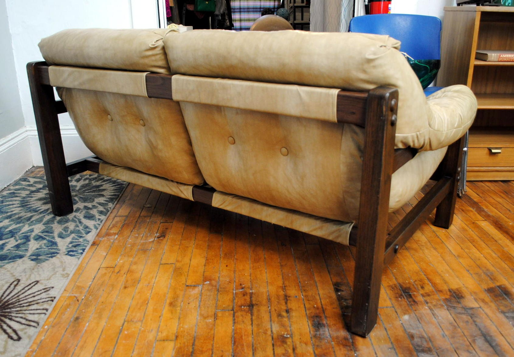 Mid Century Percival Lafer Style Sling Sofa Circa