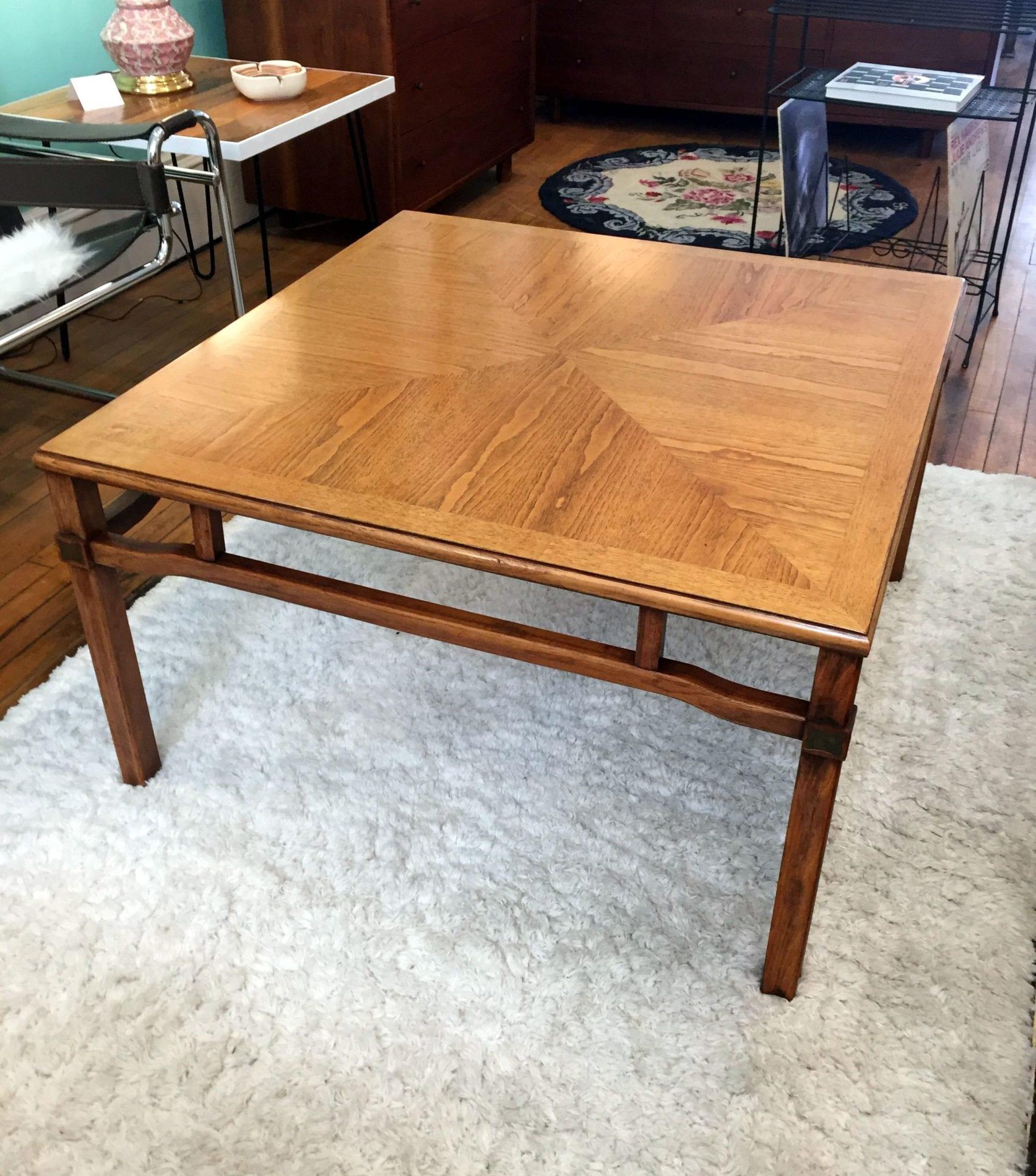 Mid Century Modern Square Coffee Table Circa
