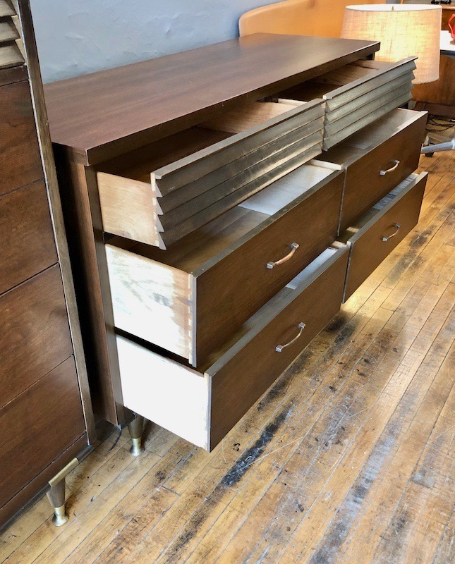 Mid Century Walnut Dresser By Basset Furniture Co.-1960's